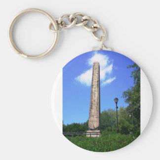 Obelisco del Central Park de NYC Llavero Redondo Tipo Pin