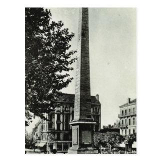 Obelisco, sur Saone de Chalons Tarjeta Postal