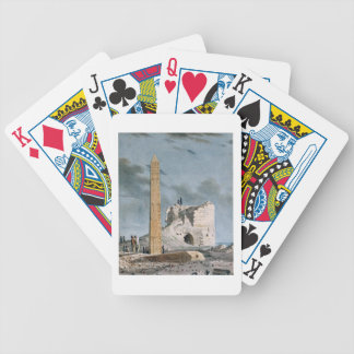 Obelisk of Cleopatra (w/c on paper) Bicycle Playing Cards