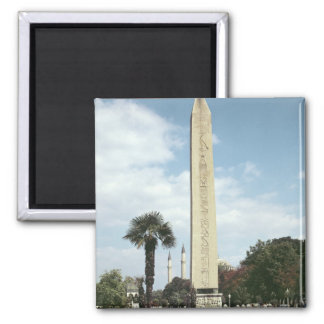 Obelisk of Theodosius I, with a Roman base 2 Inch Square Magnet