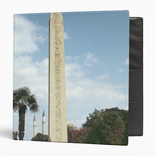 Obelisk of Theodosius I, with a Roman base Binder