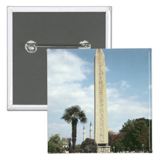 Obelisk of Theodosius I, with a Roman base 2 Inch Square Button