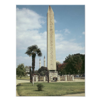 Obelisk of Theodosius I, with a Roman base Poster