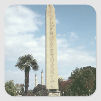 Obelisk of Theodosius I, with a Roman base Square Sticker