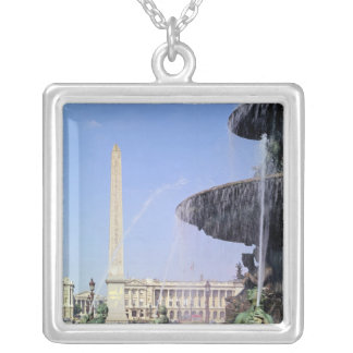 Obelisk, originally from Luxor, erected in 1836 Square Pendant Necklace