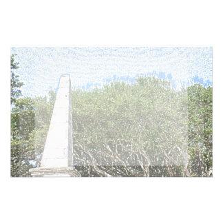 obelisk sketch landscape trees sky florida customized stationery