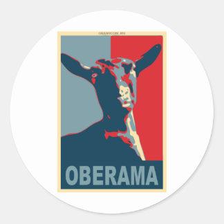 Oberama Round Stickers