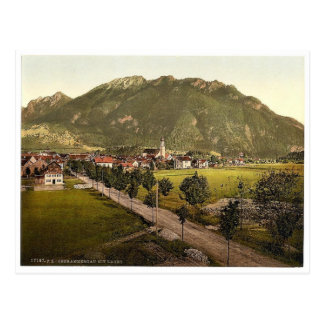 Oberammergau con Laber, Baviera superior, Alemania Tarjetas Postales