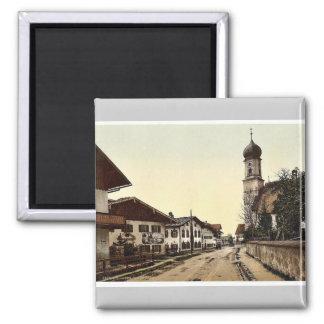 Oberammergau, general view,  Upper Bavaria, German Magnet
