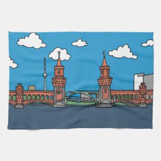 Oberbaum Bridge in Berlin Hand Towel