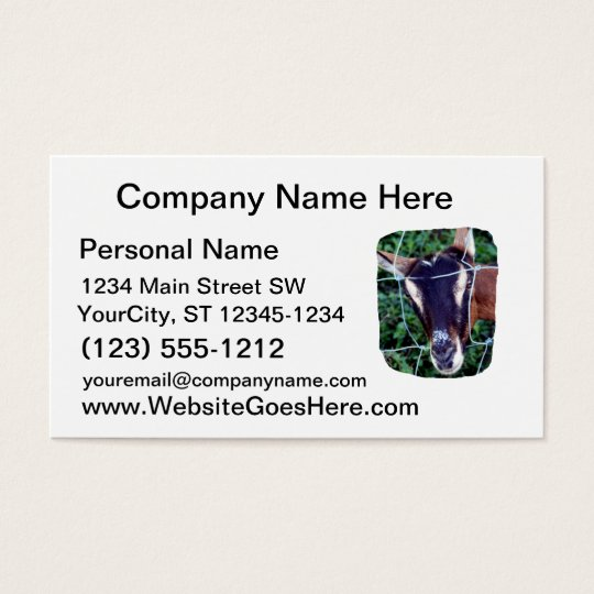 Oberhasli Alpine Doe through fence Business Card