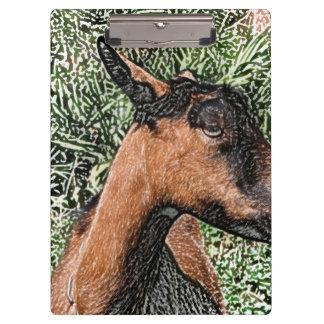 oberhasli doe goat sketch clipboard