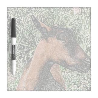 oberhasli doe goat sketch dry erase board