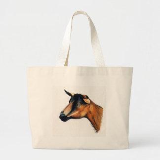 """""""Oberhasli Goat"""" Animal Art Tote Bag"""
