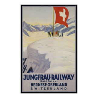 Oberland de Bernese del Jungfrau-Ferrocarril Póster