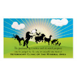 Oberle animal grande de la tarjeta de visita