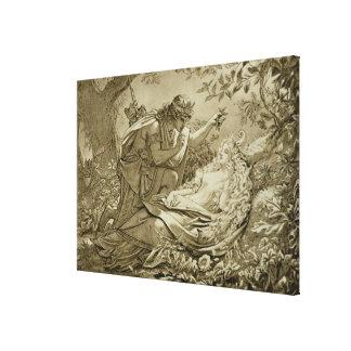 Oberon and Titania (engraving) Canvas Print