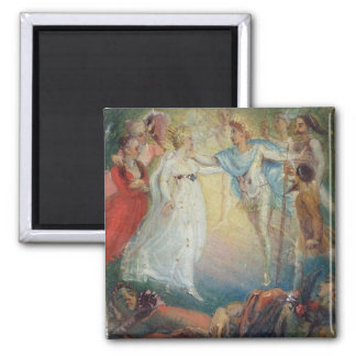 Oberon and Titania from 'A Midsummer Night's Dream 2 Inch Square Magnet