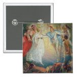 Oberon and Titania from 'A Midsummer Night's Dream 2 Inch Square Button