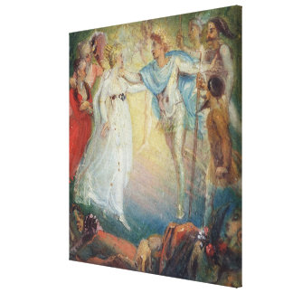 Oberon and Titania from 'A Midsummer Night's Dream Canvas Print