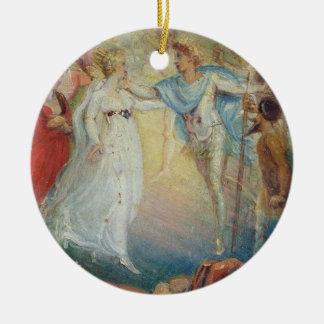 Oberon and Titania from 'A Midsummer Night's Dream Ceramic Ornament