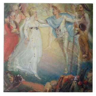 Oberon and Titania from 'A Midsummer Night's Dream Ceramic Tile