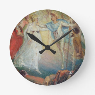 Oberon and Titania from 'A Midsummer Night's Dream Round Wall Clock
