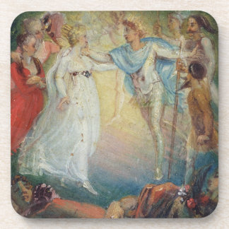 Oberon and Titania from 'A Midsummer Night's Dream Drink Coasters