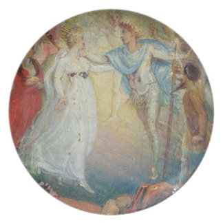 Oberon and Titania from 'A Midsummer Night's Dream Melamine Plate