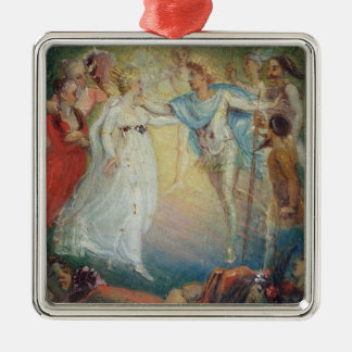 Oberon and Titania from 'A Midsummer Night's Dream Metal Ornament