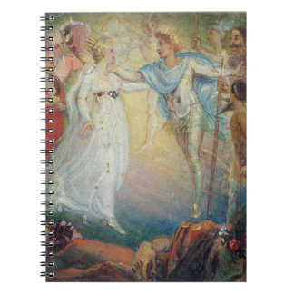 Oberon and Titania from 'A Midsummer Night's Dream Spiral Note Book