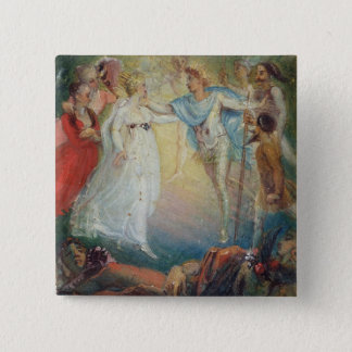 Oberon and Titania from 'A Midsummer Night's Dream Pinback Button