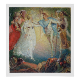 Oberon and Titania from 'A Midsummer Night's Dream Poster