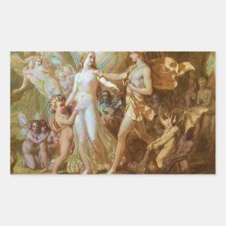 Oberon and Titania Rectangular Sticker