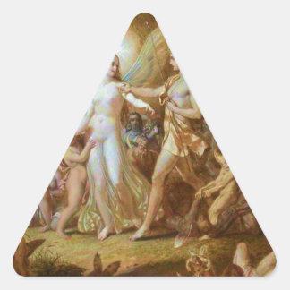 Oberon y Titania Pegatina Triangular