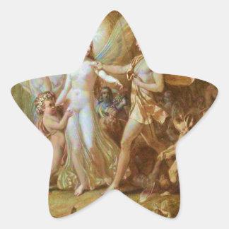 Oberon y Titania Pegatina En Forma De Estrella