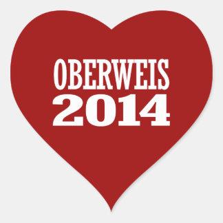 OBERWEIS 2014 HEART STICKER
