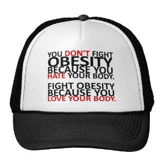 Obesidad de la lucha gorros bordados