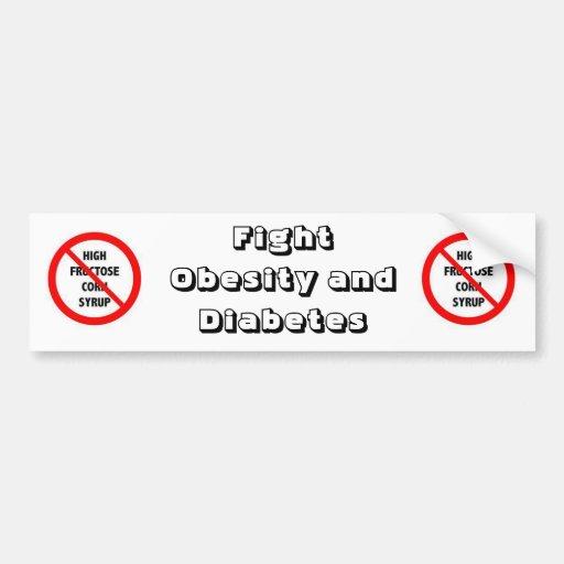 Obesidad y diabetes de la lucha pegatina para auto