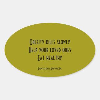 Obesity Oval Sticker