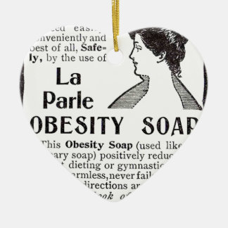 Obesity Soap Ceramic Ornament
