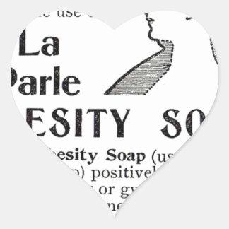Obesity Soap Heart Sticker