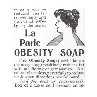Obesity Soap Notepad