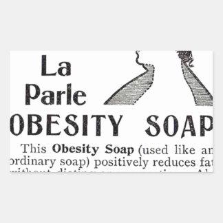 Obesity Soap Rectangular Sticker