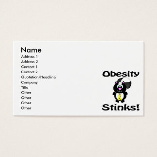 Obesity Stinks Skunk Awareness Design Business Card