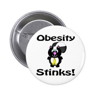 Obesity Stinks Skunk Awareness Design Pins