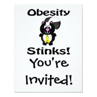 Obesity Stinks Skunk Awareness Design Card