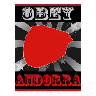 Obey Andorra Postcard