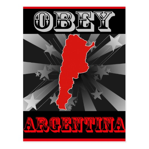 Obey Argentina Post Cards