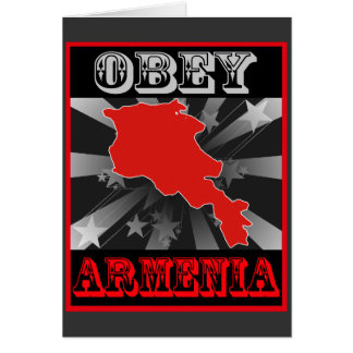 Obey Armenia Greeting Cards